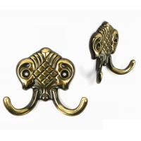 China Hand Rubbed Bronze Coat Hat Hooks Smooth Lines  Europe Traditional Style on sale