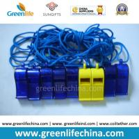 Buy cheap Blue Dark ABS Material Wholesale Whistle for Promotional Usage with Strap Lanyard from wholesalers