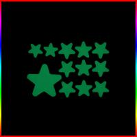 China fluorescent glow in the dark star wall sticker for kids room decoration on sale