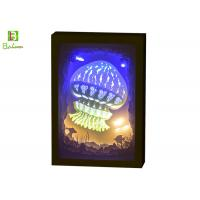 Buy cheap 3d Cube Shadow Box Night Light Theme Ocean With LED Music System from wholesalers