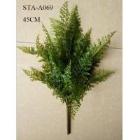 Buy cheap 45CM Artificial Fern Bush , Artificial Tree Branches Floral Arrangement Wall Decoration from wholesalers