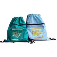 Buy cheap Drawstring Nylon Storage Bags 420D Nylon Fabric Back Bags With Emboidery Logo from wholesalers