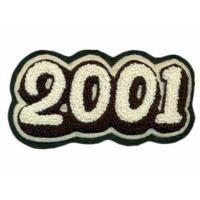 Buy cheap custom Chenille patches embroidery with Laser cut edge M for LOGO on Sweatshirts from wholesalers
