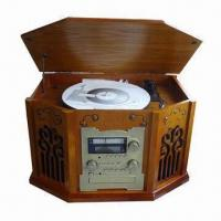 Buy cheap Nostalgic Wooden Music Center with 42W Power Consumption and Auto-return Phonograph Arm from wholesalers