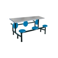 Buy cheap Durable backrest seat table school restaurant canteen steel Stainless steel foldable office furniture from wholesalers