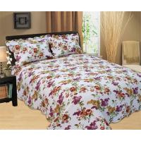 Durable Country Style Printed Quilt Set Hand Wash Natural Cotton Fabrics