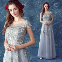 Buy cheap Gray Chrysanthemum Appliques Lace Up Gorgeous Evening Dress TSJY102 from wholesalers