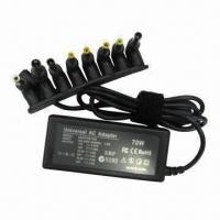 Buy cheap 70W Universal Laptop Power Adapter, 8 pieces automatic tips, CE, RoHS, FCC, ERP, SAA marks from wholesalers