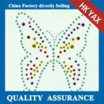 Buy cheap D0929Butterfly design hot fix rhinstuds design & strass design motifs for shirts from wholesalers