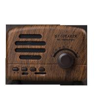 Buy cheap Wooden Portable Bluetooth Speaker / Mini Portable BT Speakers Trendy Sd Card Magic Resistant from wholesalers
