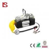 Buy cheap Heavy duty double cylinder portable 12 volt car air compressor with LED light BS-8003 from wholesalers