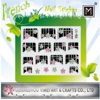 Quality 2012 New Design custom Removable 3D Art French Nail Sticker for Finger Tip for sale
