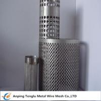 Buy cheap Wire Mesh Filter Tube|Flat Kintting Weave with Round Hole Shape from wholesalers