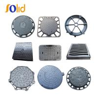 Buy cheap Supply High Quality Square and Round Ductile Cast Iron Manhole Cover and Drain Grating from wholesalers