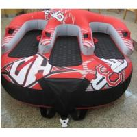 Buy cheap Big Inflatable Water Parks for adults / kids , PVC double people water skiing tube from wholesalers