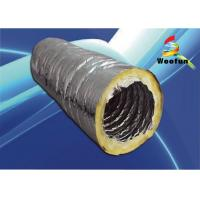 Buy cheap Foil Ventilation Insulated Flexible Ducting , Glass Wool 6 Inch HVAC Flex Duct product