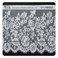 Buy cheap Nylon Eyelet Lace Trim , Floral Scallop Bridal Lace For Evening Dress from wholesalers