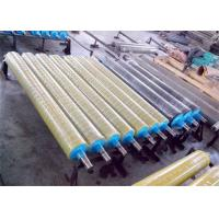Buy cheap Smooth Surface Rubber Coated Conveyor Rollers , Industrial Rubber Rollers No Swelling from wholesalers
