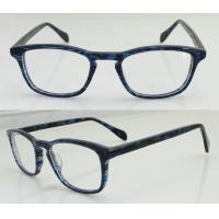 Buy cheap Fashion Blue Acetate Men Optical Frames, Custom Hand Made Acetate Eyewear Frame product