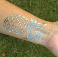 Quality Pineapple Temporary Gold Flash Tattoo for sale