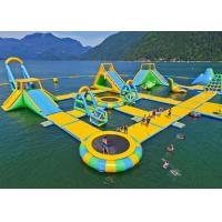 Buy cheap Waterproof Material Inflatable Water Playground Equipment Floating Island With Inflatable Slide from wholesalers