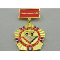 Buy cheap 2D or 3D Brass Custom Awards Medals on Breast with Die Stamping, Photo Etching, Injection from wholesalers