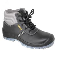 Buy cheap pu/pu outsole with steel toe cap steel pleate blaack safety shoes for man from wholesalers