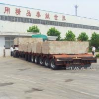 Buy cheap TITAN 120 ton 80 ton Low Flat Bed Trailer with 5 axles 7 axles from wholesalers