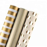 China Moisture Proof Recyclable Wrapping Paper Smooth Metallic Foil Shine For Clothing / Shoes on sale