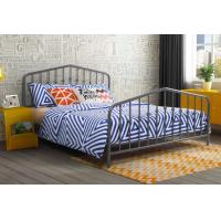 Buy cheap Modern Grey Full Size Metal Beds Wrought Iron California King Size Bed Frame from wholesalers