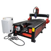 Buy cheap 4*8 Feet 4 Axis Wood CNC Router with Underneath Rotary Axis/Mach3 Control from wholesalers