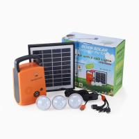 4W 9V lithium lighting kit mini off grid panel portable solar lighting system