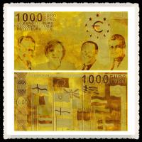 Buy cheap Customed European 1000 EURO Bills Gold Banknoe 24K Gold Foil Plated For Gift from wholesalers