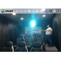 Quality 9 Persons 7D Movie Theater With Special Effect System , Thrilling Drastic Movement Of Chair for sale