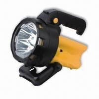 Buy cheap Portable LED Handheld Spotlight with 1,200 to 1,400mcd Spot LED luminance from wholesalers