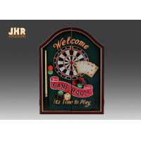 Buy cheap Decorative Wall Dart Board Pub Sign Antique Wooden Dart Cabinet Set MDF Dart Box from wholesalers