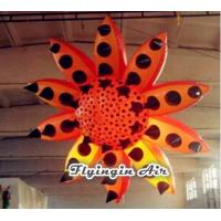 Buy cheap 3m Orange Spotted Inflatable Flower for Party and Event Decoration from wholesalers