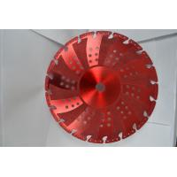 Buy cheap Red Vacuum Brazed Diamond Blades Concrete Cutting Blades With Flange from wholesalers