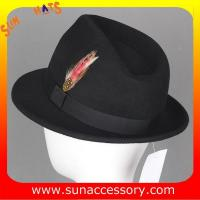 Buy cheap 4190369 Sun Accessory customized  winner  fashion 100% wool felt fedora hats,hats for men from wholesalers