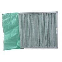 Buy cheap Medium Efficient Washable Synthetic Fiber Industrial Dust Bag Pocket Filter product