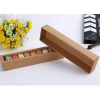Buy cheap White / Brown Food Macaron Paper Cake Boxes / Kraft Packaging Boxes from Wholesalers
