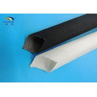 Buy cheap 400 - 600 degree Uncoated Fiberglass Sleeving Black / White Good Strength from wholesalers