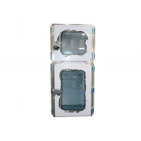Buy cheap Electromagnetic SUS201 Combination Cleanroom Pass Through Box Interlocking Doors product