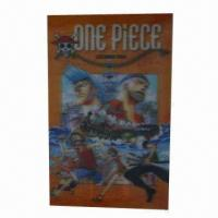 Buy cheap Lenticular sticker/3D cartoon sticker, 3D function, adhesive paper back, customized designs/sizes product