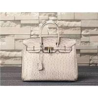 Buy cheap high quality  35cm beige women ostrich grain leather design bags top selling handbags L-RB4-17 from wholesalers