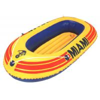 Buy cheap One person Small Inflatable Fishing Boats with stainless steel Foot pump from wholesalers