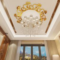 Buy cheap Waterproof adhesive decorative acrylic wall mirror stickersDecorative wall decals with chandelier/ ceiling lamp from wholesalers