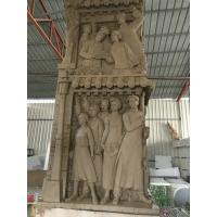 Buy cheap 3m Size High Relief Sculpture Wall Decoration Fiberglass Young Figure Statue from wholesalers