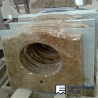 Buy cheap Light Emperador Brown Marble Bathroom Vanity Top from wholesalers