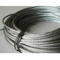 Buy cheap Galvanized Stainless Steel Wire Rope with Certification ISO / high tensile steel wire from wholesalers